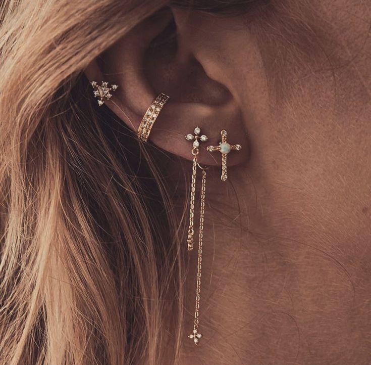 Kreuz Ohrringe 💖💫 Cross earrings 💖💫 …