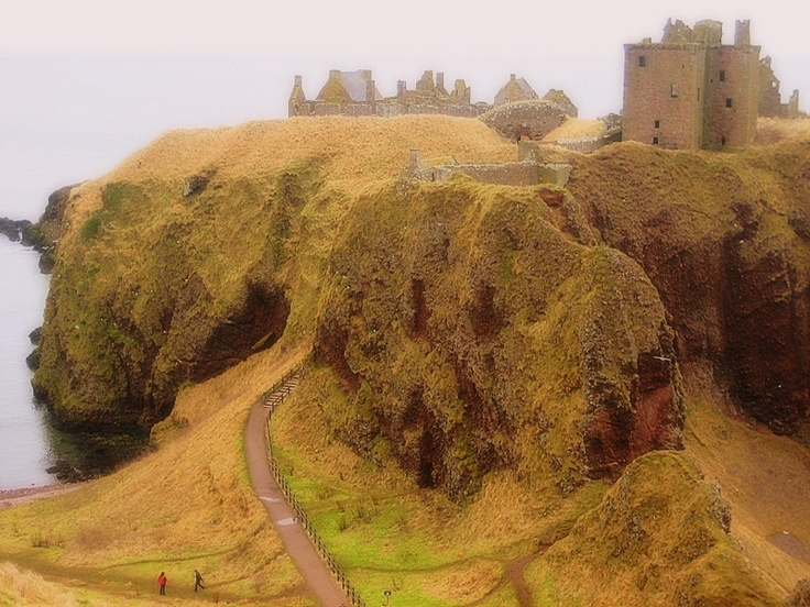 The gateway to the Medieval world- Dunnottar castle, Scotland