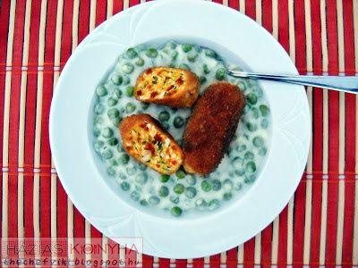 Házias konyha: Zöldborsó főzelék tojáskrokettel