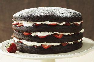 Double-Chocolate Layered Torte recipe #dessert #kraftrecipes