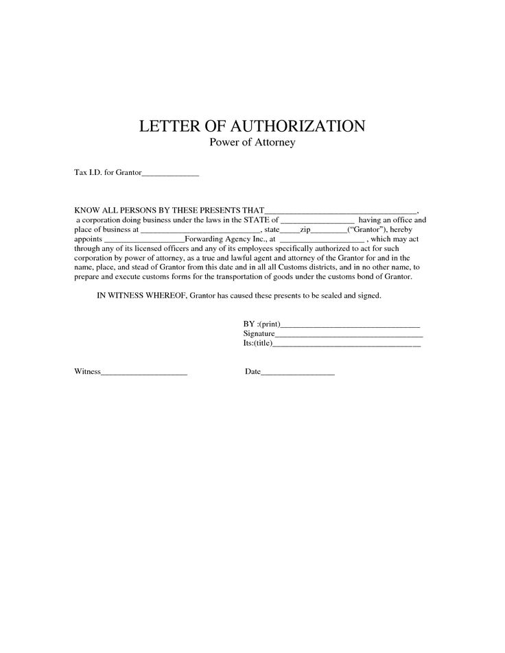 attorney sample simple power form template authorization letter samples