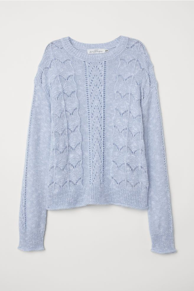 Knit Sweater Light blue Ladies | H&M US | Sweaters, Knit