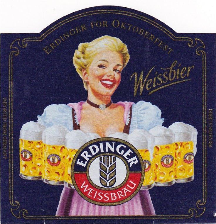 Erdinger Weissbier for Oktoberfest, German Hefeweizen 5.3% AVB (Erdinger Weissbräu, Alemania) #label