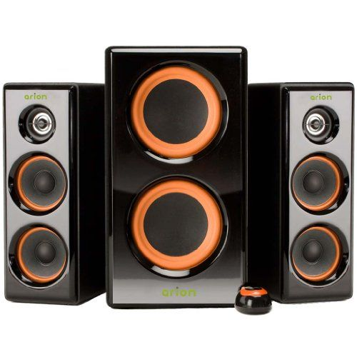Arion Legacy AR506-BK 2.1 Channel Speaker System with Dual Subwoofer & Wired Remote for MP3, CD, PC, Video Game Consoles-Black, 100 Watts Eagle Tech http://www.amazon.com/dp/B0039NM52Q/ref=cm_sw_r_pi_dp_a1DKtb1JEZH05FDH