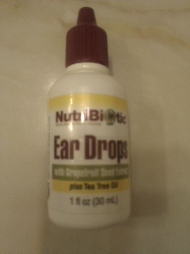 NutriBiotic First Aid Ear Drops with Grapefruit Seed Extract and Tea Tree Oil NutriBiotic First Aid Ear Drops are an excellent topical treatment for ear aches swimmer's ear and over-production of wax. This soothing antiseptic formula helps ease pain and soothe itchy irritated skin.