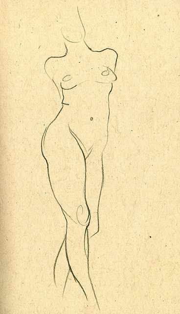 life drawing 1 min pose by paul heaston, via Flickr
