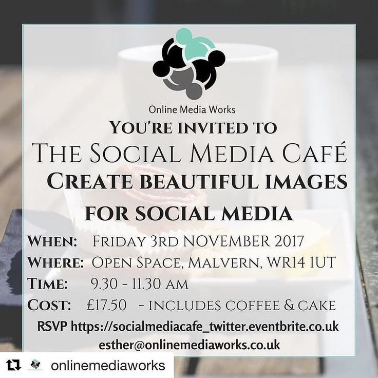 #Repost @onlinemediaworks (@get_repost)  The next Social Media Cafe is on Friday 3rd November. Well be creating beautiful images for social media. Its a hands-on session and therell be  too! Come and meet other businesses and learn something new!