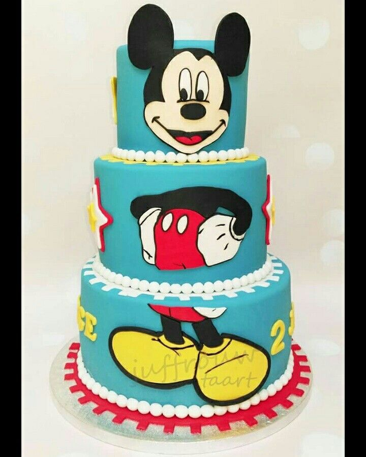 Mickey mouse taart, mickey mouse cake