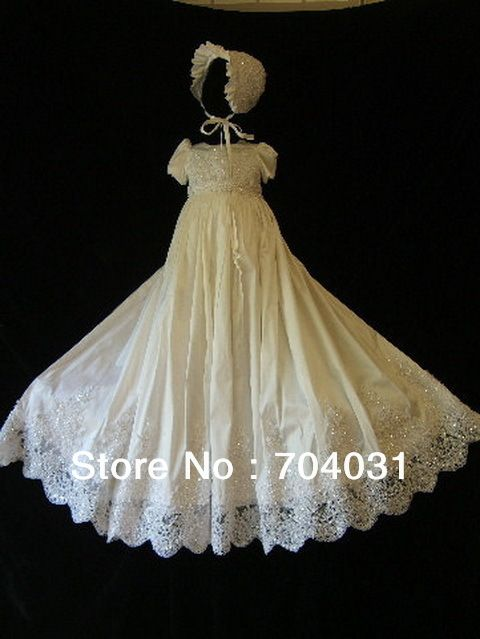 Angell Christening gown White set with bonnet Custom made size new  arrived 002-in Dresses from Apparel & Accessories on Aliexpress.com