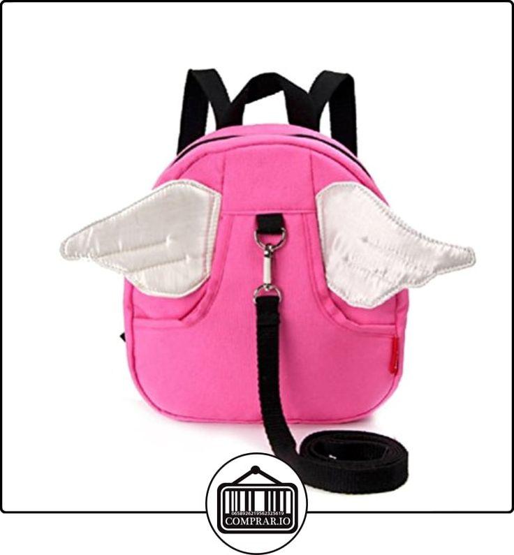 Alas de mariposa para bebé arnés de seguridad Riendas correa cinturón plomo rosa Pink white wings  ✿ Seguridad para tu bebé - (Protege a tus hijos) ✿ ▬► Ver oferta: http://comprar.io/goto/B01LZ1QZBJ