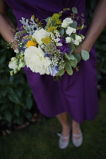 plum wedding ideas | plum bridesmaid dress | plum and yellow wedding ideas | Mo Hines Photography