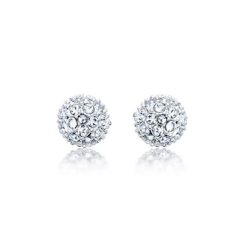 Emma Pave Crystal Ball Earrings with Swarovski® Crystals