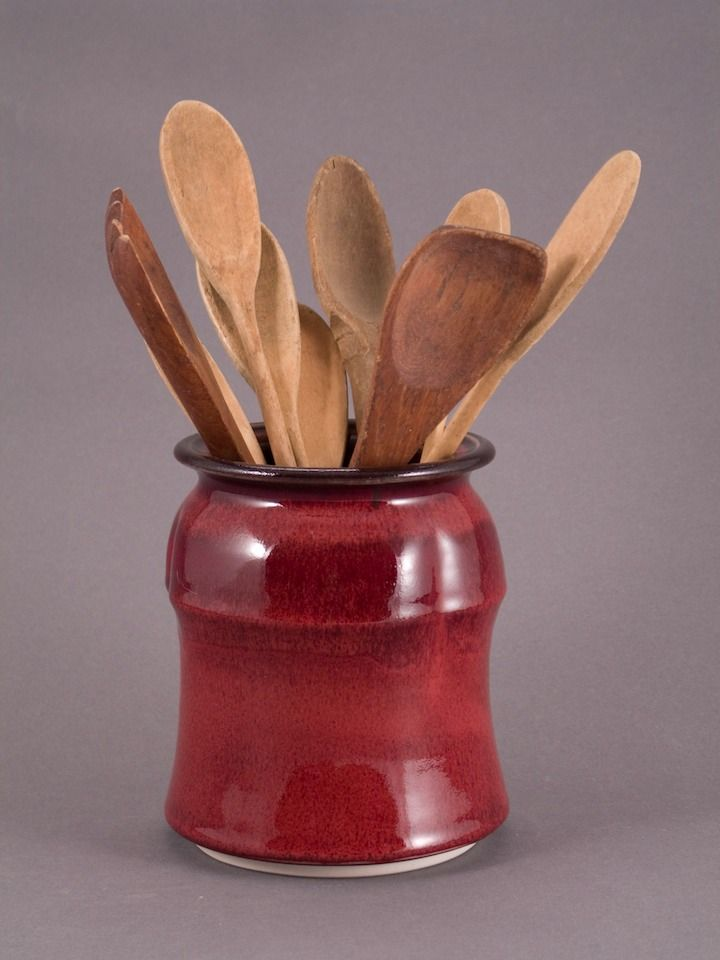 Beautiful Red Utensil Holder | Mark Hutton