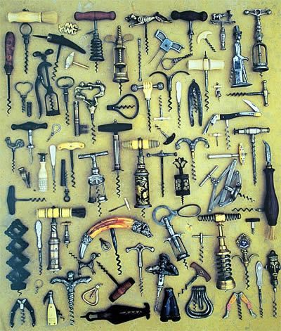 A collection of corkscrews from France.