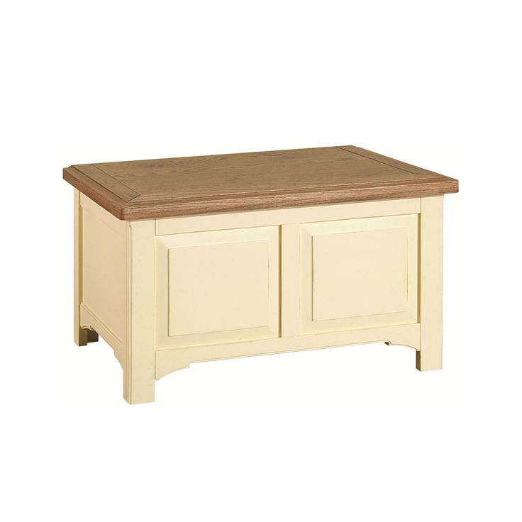 Attractive Painted Oak Bedroom Blanket Box