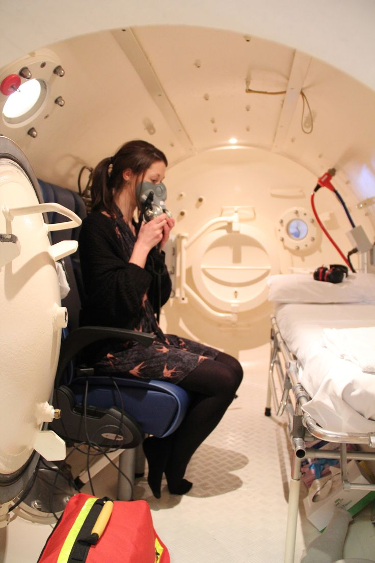 Inside one of the DDRC Healthcare 'Comex' hyperbaric chambers.