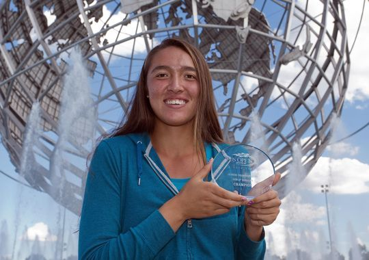 U.S. Open girls champion Samantha Crawford says the mentoring program helped her learn the history of the WTA. (Photo: Susan Mullane, US Presswire)