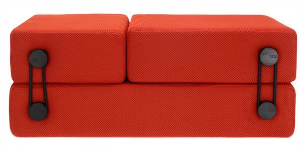 Кровать трансформер (кресло, пуф) 6025 02/orange. Фотография 4.