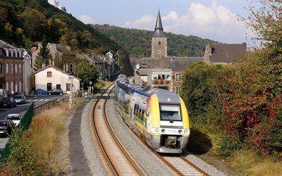 Scarica sfondi vir-molen, treno, ferrovia, francia