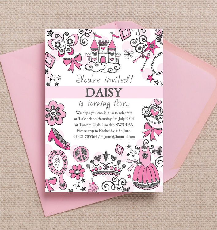 112 best images about Baby Kids Party Stationery Invitations – Diy Princess Party Invitations