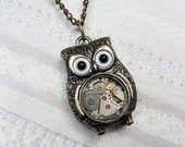 Cute Steampunk owl.: Steampunkowl, Brass Owl, Style, Owl Necklaces, Owl Jewelry, Steam Punk, Steampunk Owl, Owls, Owl Pendants