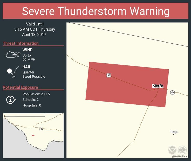 Severe Thunderstorm Warning continues for Marfa TX until 3:15 AM CDTpic.twitter.com/AYc6S9FdWq - https://blog.clairepeetz.com/severe-thunderstorm-warning-continues-for-marfa-tx-until-315-am-cdtpic-twitter-comayc6s9fdwq/