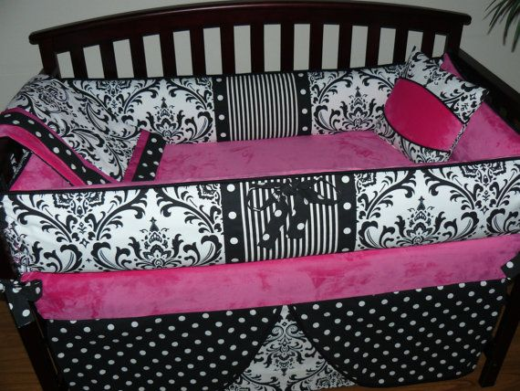 Custom crib baby bedding 3pc set hot by custombabycreations 268 00