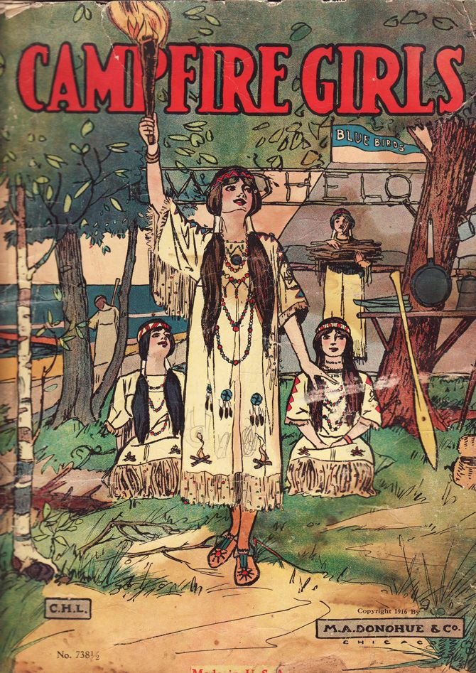 1916 edition of a Campfire Girls storybook cover