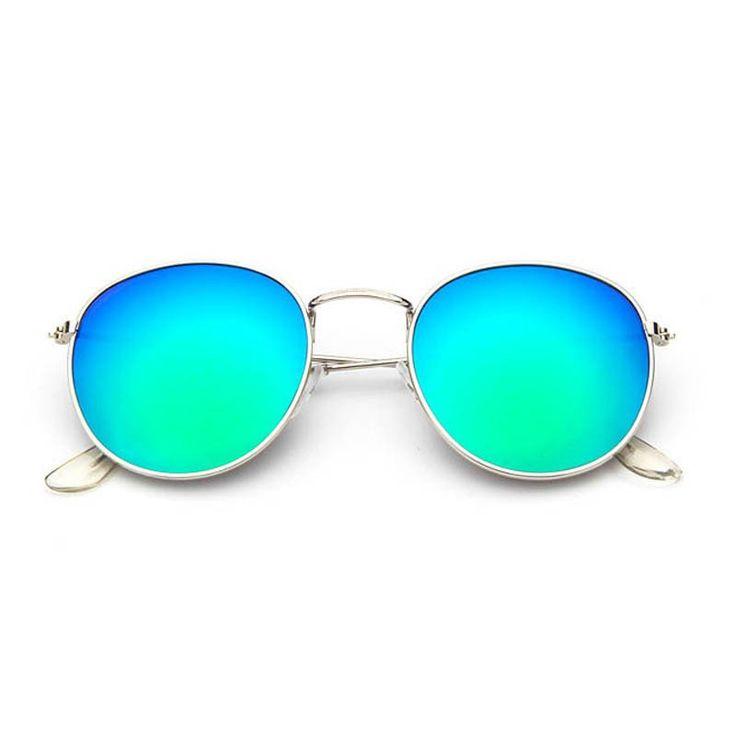 Eleganti occhiali da sole rotondi a specchio per donna con nove diverse varietà di scelta. Tipo di occhiali:Occhiali da soleGenere:FeminileMarca: xinfeiteLarg