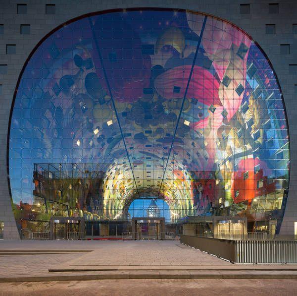 Futuristic food shopping: Market Hall by MVRDV in Rotterdam-DETAIL-online.com