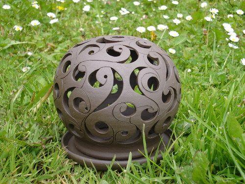 Černá koule na svíčku 13cm