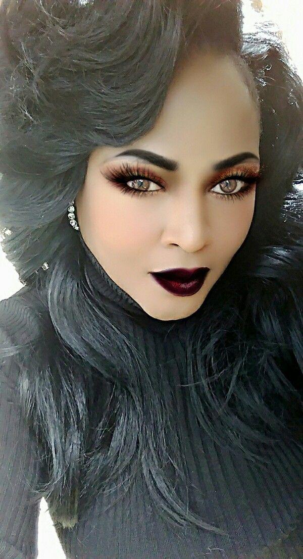 MUA & Model is Carlita Smith, the CEO of Carlita Cosmetics