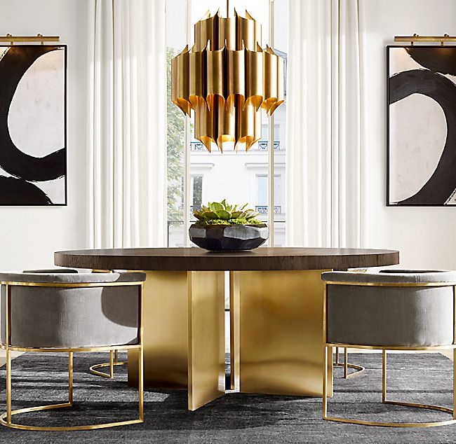 Cathedral Brass Chandelier Collection | RH
