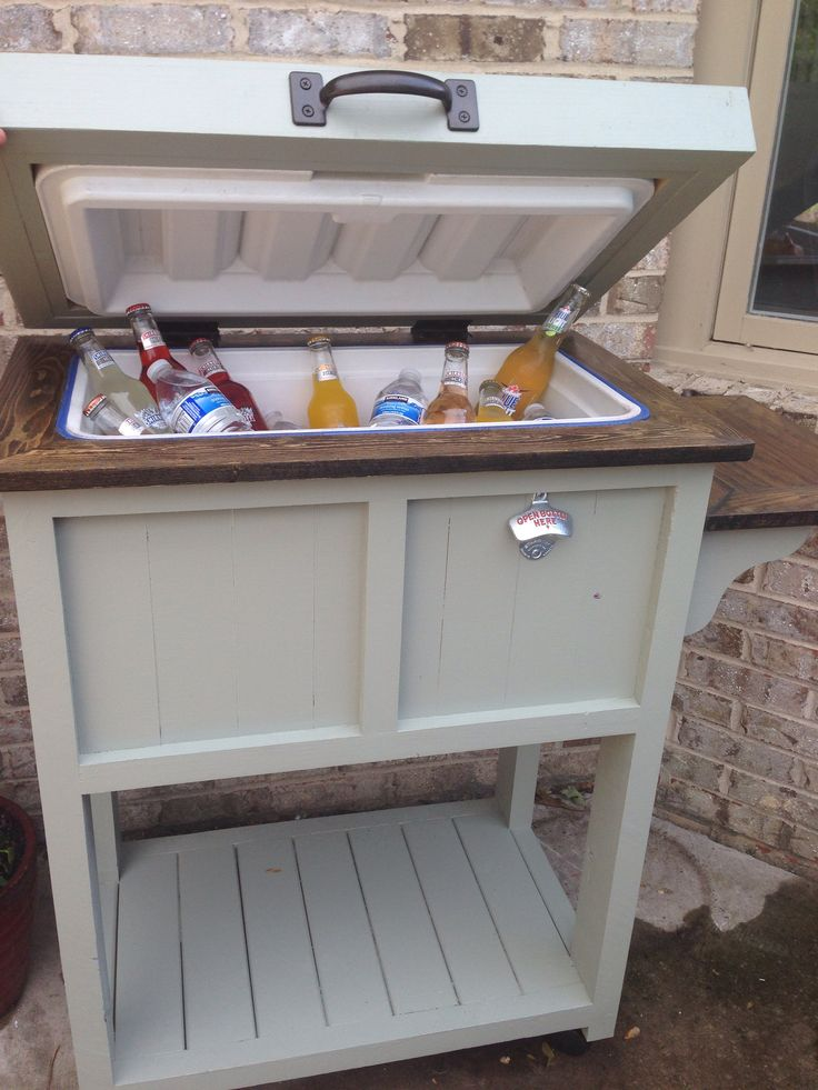 Best 20 cooler stand ideas on pinterest pallet cooler for Wooden beer cooler plans