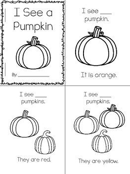 Pumpkin Count & Color Emergent Reader