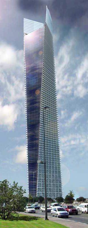 Sama Tower, Dubai, UAE by Atkins Architects :: 51 floors, height 194m
