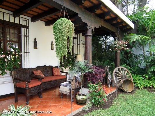 tipica jardin guatemala casas guatemaltecas pinterest