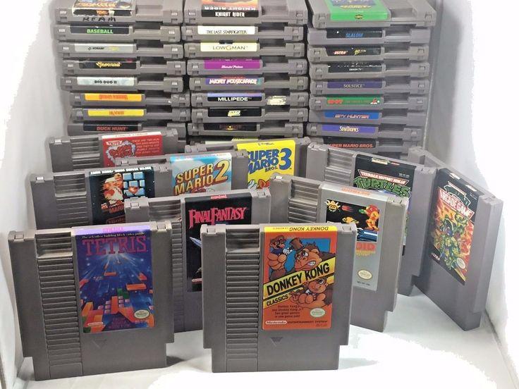 Original Nintendo NES Games  Zelda Super Mario 1 2 3 Metroid Donkey Kong
