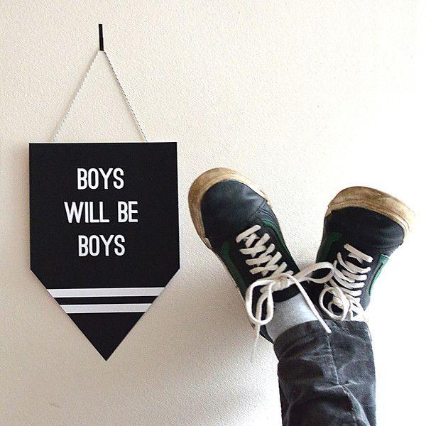 """Kinderzimmerdekoration - Wimpel / Kids Print """"Boys will be Boys"""" - ein Designerstück von TypicalMe bei DaWanda"""