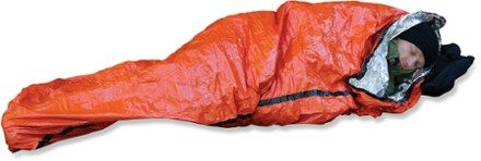 Don't get left out in the cold. The SOL Emergency bivy reflects up to 90% of your body's heat back to you. Available at REI, 100% Satisfaction Guaranteed.