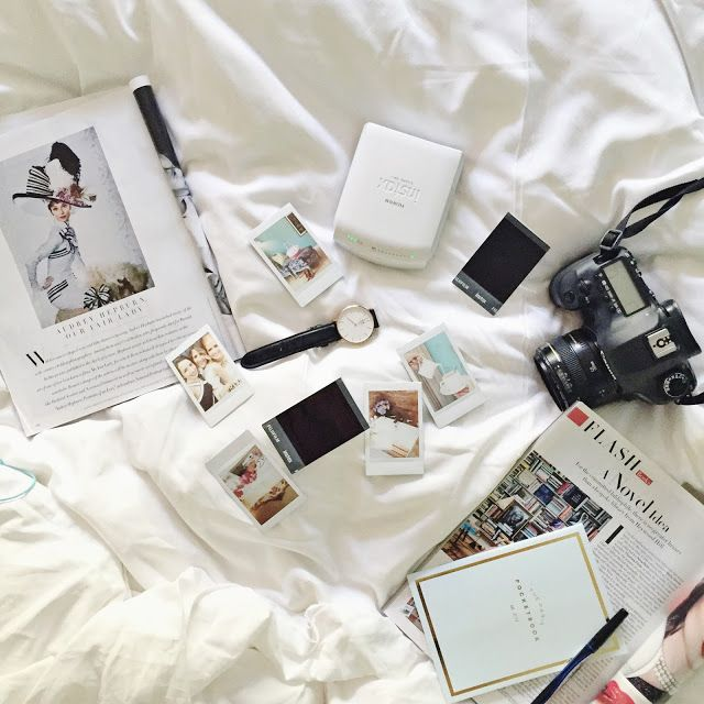 Polaroids in Bed