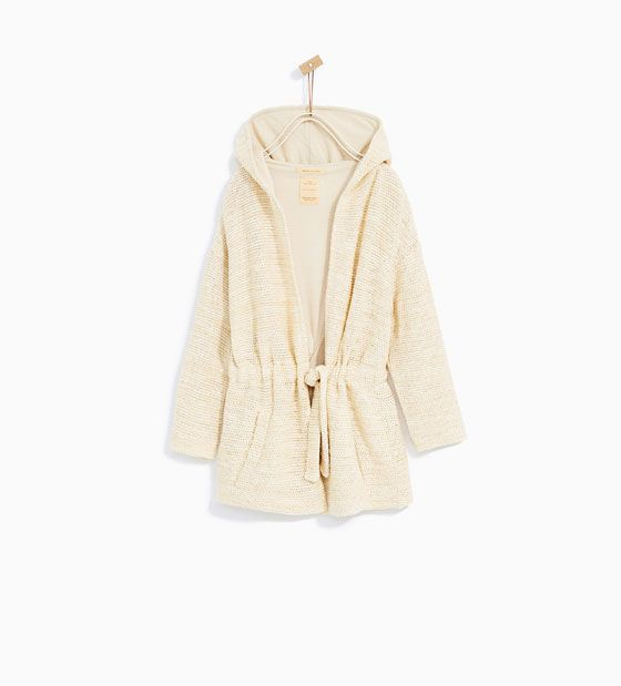 ZARA - KIDS - CARDIGAN WITH HOOD
