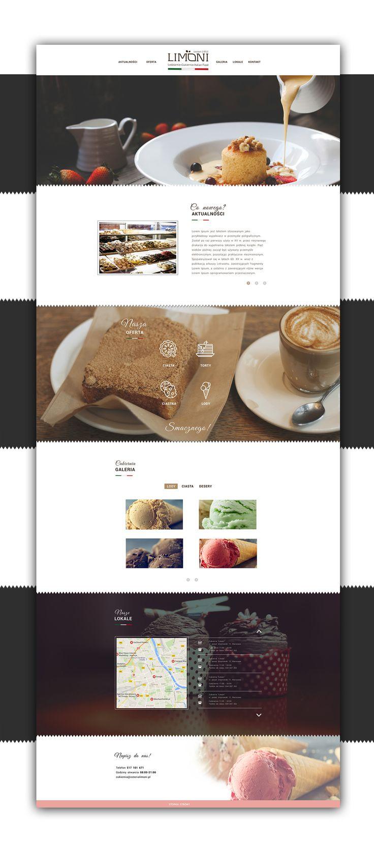 Web design inspiration UI/UX user experience fashion concept Limoni on Behance