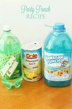 Under the Sea theme punch. Easy and guaranteed to be a hit at any party.