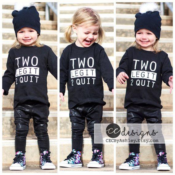 Birthday Shirt Two Legit 2 Quit  2nd birthday by CEdesignsByAshley