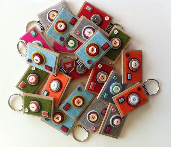 The ECO BOXY  Camera Keychain Your choice by claraiuribe on Etsy, $14.00