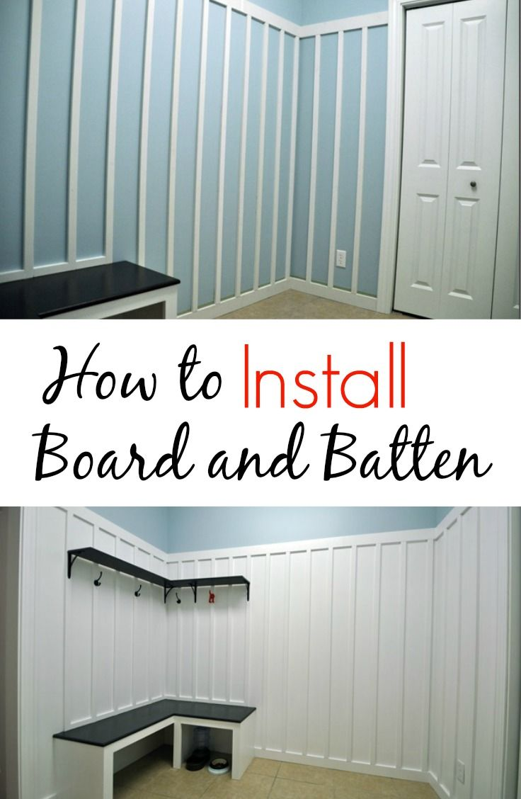 How to Install Board and Batten.  Great tips!