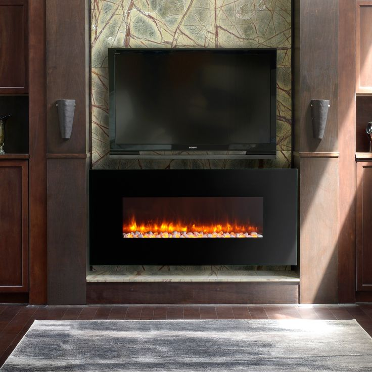 Have to have it. Dynasty Contemporary Electric Fireplace LED Wall Mount - 58.25 in. - $999 @hayneedle