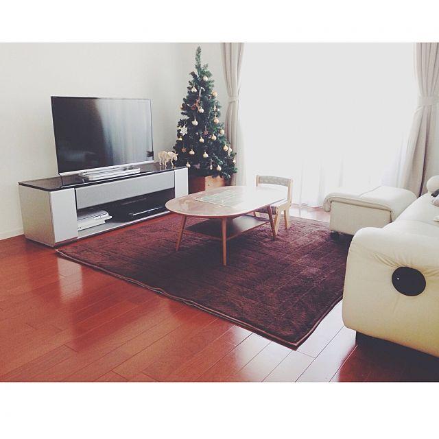 女性で、3LDKのウッドオーナメント/セリア/クリスマスツリー/クリスマス/部屋全体についてのインテリア実例を紹介。「今日も寒い1日です。」(この写真は 2014-12-22 15:09:03 に共有されました)