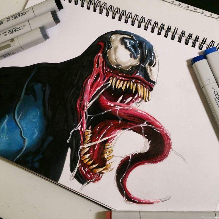 Venom Spiderman Drawing at PaintingValleycom  Explore